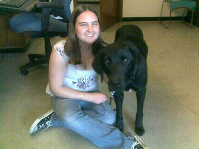 Photo of Claire Stanley and Kodiak - guide dog