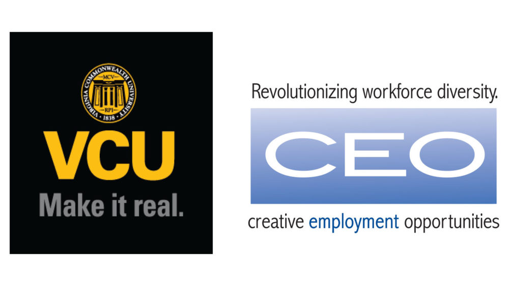 Virginia Commonwealth University and Creative Employment Opportunities logos