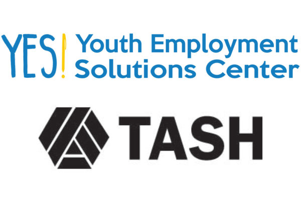 YES! Youth Employment Solutions Center logo and TASH logo