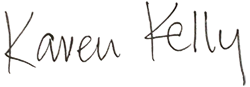 Karen Kelly's signature