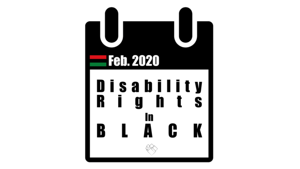 Image of a calendar with Disability Rights in Black written.