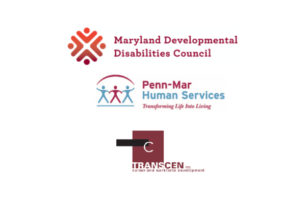 Maryland DD Council, Penn-Mar and TransCen logos